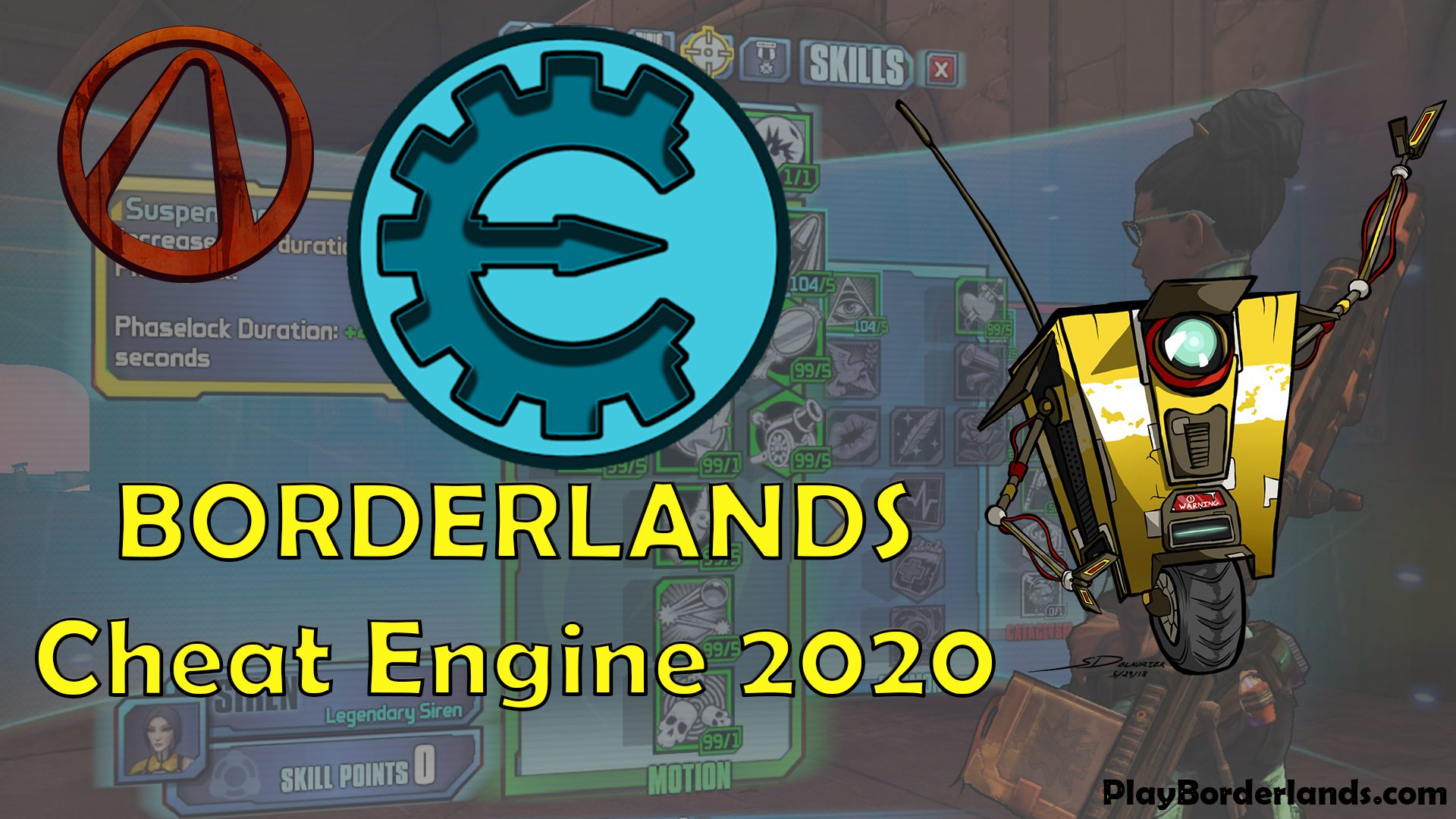 Play Borderlands Cheat engine