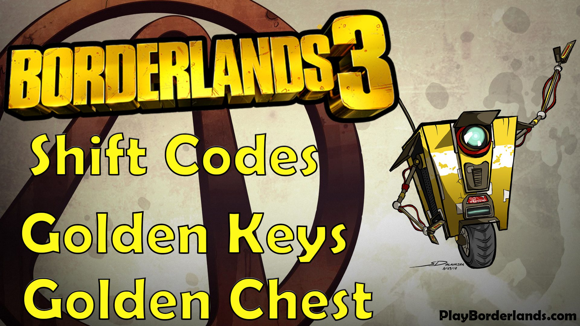 Borderlands 3 Shift codes golden keys golden chest